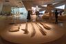 По решению музейной администрации и дизайнеров интерьеров NMoQ крупные экспонаты — например, орудия труда и охоты древних обитателей Аравийской пустыни — не прячут под стекло: они лежат так, словно владельцы скоро вернутся и заберут их. А гостям музея удобнее их рассматривать в этом относительно свободном доступе.