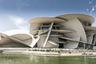 Жан Нувель удачно вписал здание в природную среду Катара: плоская песчаная пустыня подходит к самой бухте Дохи, а над ними — голубое небо, большую часть года практически безоблачное. Сооружение цвета песка словно сливается с пустынным ландшафтом.