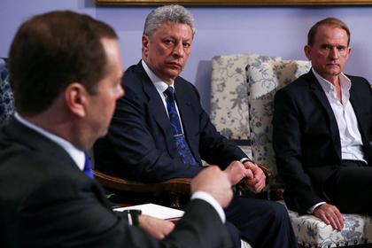 Премьер-министр РФ Д.Медведев провел встречу с кандидатом в президенты Украины Ю.Бойко и политиком В.Медведчуком  (слева направо)