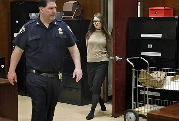 Анна Сорокина в зале Верховного суда штата Нью-Йорк, март 2019