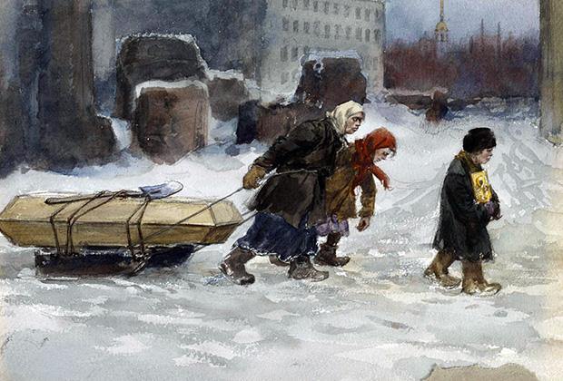 Картина Ивана Владимирова «Похороны рабочего, который не был коммунистом»