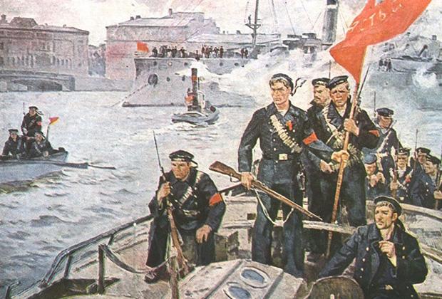 Картина Олега Гадалова «Мы из Кронштадта. 1917 год»