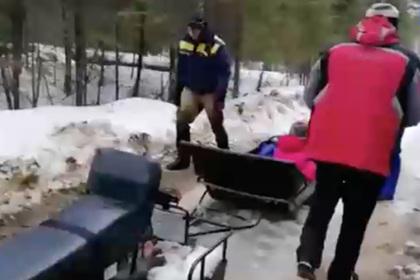 Россиянку эвакуировали с горы с травмой ноги
