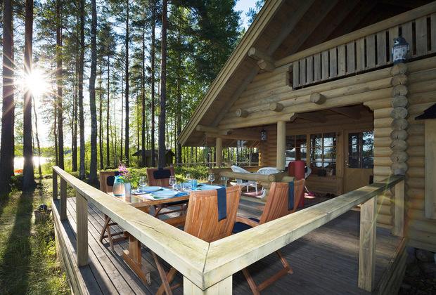 Финляндия: терраса на даче