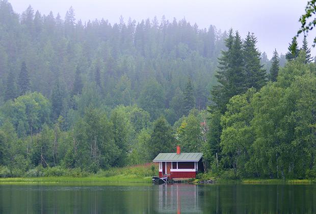 Жилой дом в поселке Ивало в провинции Лаппи в Финляндии