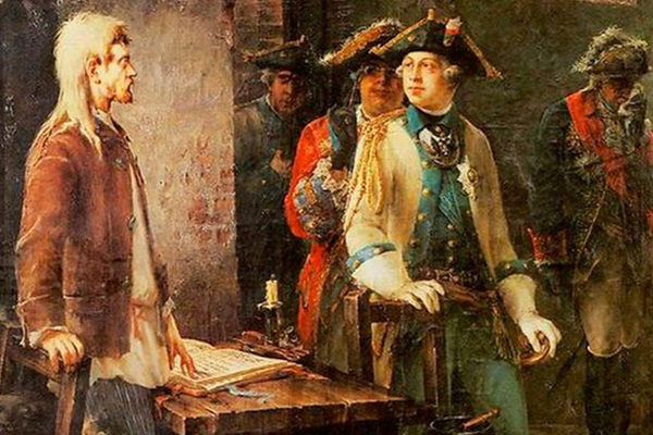 Федор Буров «Петр III посещает Иоанна Антоновича в его шлиссельбургской камере»