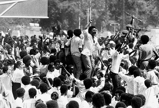 Суданцы после переворота 6 апреля 1985 года