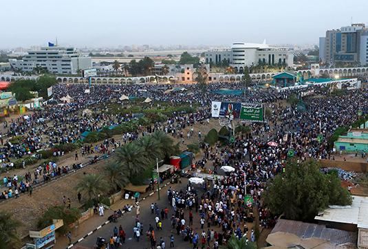 Акция протеста в Хартуме, апрель 2019-го