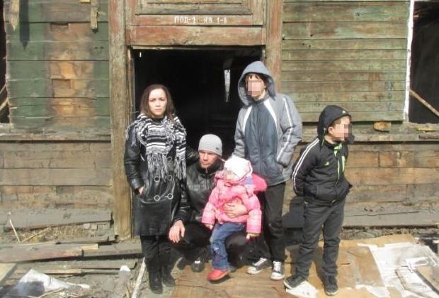 Вера Бегун с семьей