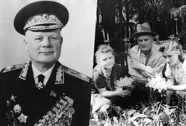 После войны Филипп Голиков возглавлял Главное политическое управление Советской армии и Военно-морского флота. В 1961 году он стал маршалом Советского Союза. На фотографии начала 1940-х годов он на даче с дочерью и ее подругой.