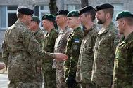 Открытие штаба интернациональной дивизии «Север» в латвийском Адажи