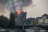 Пожарным удалось потушить огонь в соборе лишь к утру 16 апреля. Он уничтожил две трети кровли, шпиль и знаменитые часы собора.