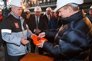 Вагит Алекперов и Владимир Путин