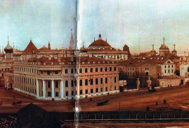 Коронация Николая II. Слева — Малый Николаевский дворец, 1896 год