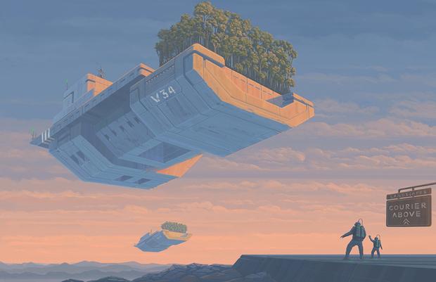 Второй приз получил австралиец Ник Стат за свою работу «Памятники прошлого». Его история — о будущем, в котором земляне, сосредоточившись на прогрессе,  упустили необратимые изменения климата.  <br></br> Век спустя после того, как пейзажи некогда зеленой планеты стали напоминать марсианские, люди создали искусственные заповедники, чтобы имитировать утраченную живую природу.