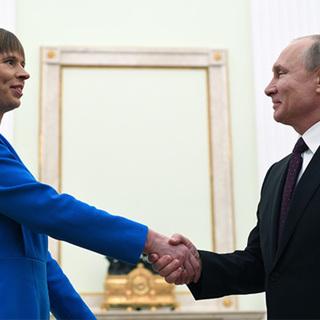 Керсти Кальюлайд и Владимир Путин