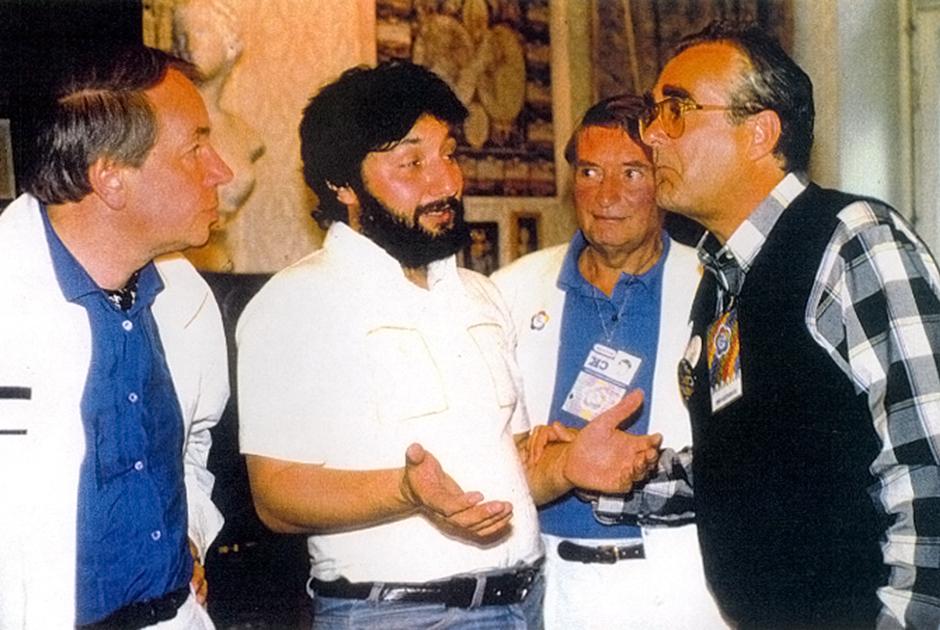 Андрей Вознесенский, Стас Намин, Мишель Легран, 1985 год
