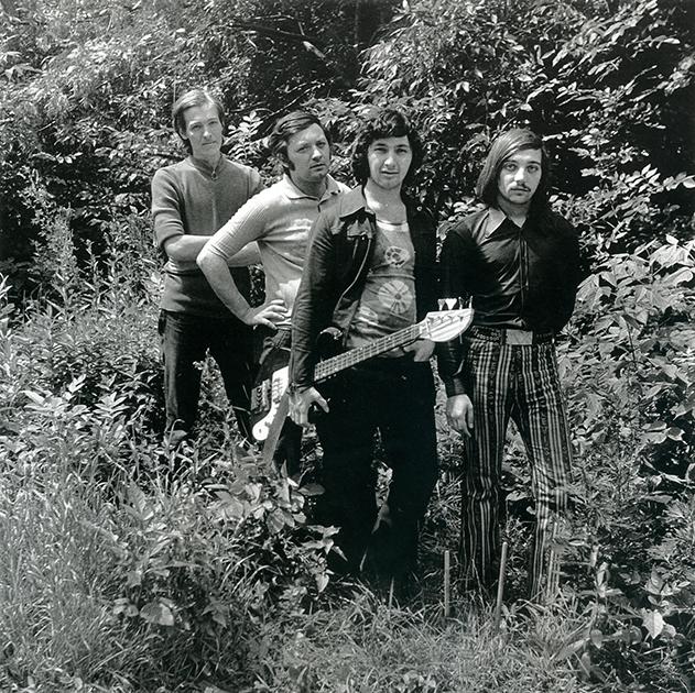 Фото для обложки первой пластинки группы «Цветы»: Стас Намин, Юрий Фокин, Сергей Дьячков, Александр Лосев, 1972 год