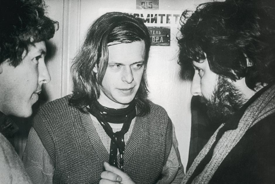 С Андреем Макаревичем и Борисом Гребенщиковым, 1985 год