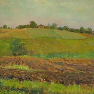 Исаак Левитан. «Летний пейзаж. Пашня»