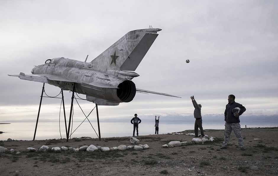 Макет военного самолета