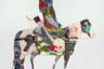 Среди основных тем художника особенную роль играет пространство, история и метафизика Великой степи. Она выступает не только ландшафтом, незыблемость которого сводит воедино прошлое и будущее Средней Азии и ее обитателей — но и метафорой для чистого поля доржиевского искусства: его отсылающие и к Уорхолу, и к ковровому ремеслу всадники по мысли художника неизбежно стаптывают под своими копытами любые разделительные границы отдельных жанров, канонов и даже цивилизаций. В Венеции, кроме картин самостийного бурятского постмодерниста, покажут еще и восемь металлических скульптур кочевников.
