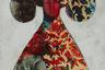 При том, что Доржиев ухитряется тем или иным способом почти в каждой работе продемонстрировать свою верность бурятским национальным традициям, в его взглядах на искусство и стиле не менее легко, например, разглядеть и колоссальное влияние Энди Уорхола. Вот и повторение одного и того же сюжета тоже служит Доржиеву одним из любимых приемов, причем предоставляя пространство уже не для критики мгновенного выхода образов в тираж (как у иконы поп-арта), а для утешительных поисков в пределах одной — размноженной, а значит, безликой, чужой фигуры — реминисценций тех культурных кодов, которыми питается эмоциональный мир бурятского художника.