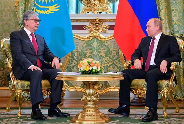 Касым-Жомарт Токаев и Владимир Путин