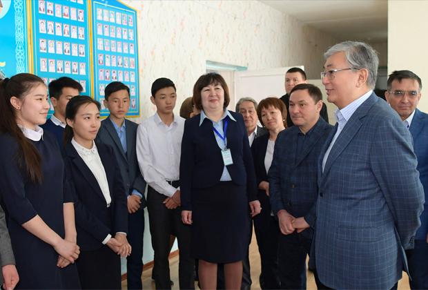 Президент Казахстана Касым-Жомарт Токаев посетил село Косшы