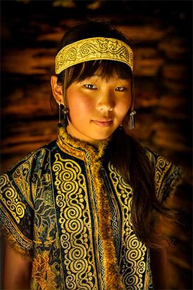 Девушка народности нивхи, Сибирь