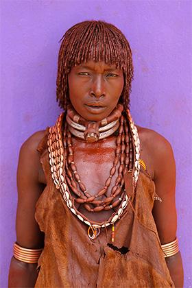 Женщина племени Хамер, Южная Эфиопия