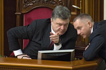 Петр Порошенко (слева) и Борис Ложкин