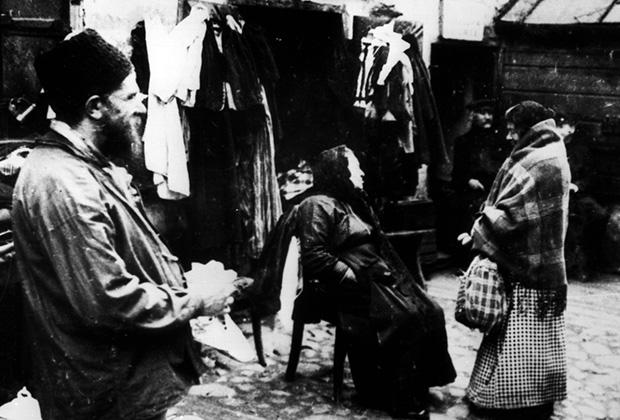 Евреи Восточной Европы. Из цикла фотографий, сделанных во время немецкой оккупации Польши во время Первой мировой войны. Photo, c. 1915/16.