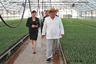 Для встреч с аграриями Ким Чен Ын выбирает фермерский стиль: рубашка на выпуск, соломенная панама, легкие брюки.