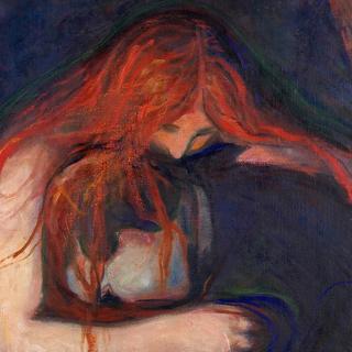 Фрагмент картины «Вампир», 1895