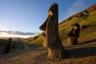 Giant monolithic stone Moai statues at Rano Raraku, Rapa Nui (Easter Island), UNESCO World Heritage Site, Chile, South America CREDIT Robert Harding / Gavin Hellier