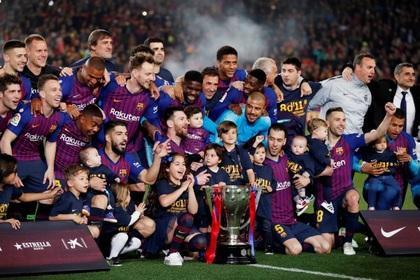«Барселона» в 26-й раз стала чемпионом Испании