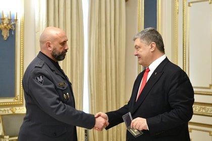 Сергей Кривонос и Петр Порошенко