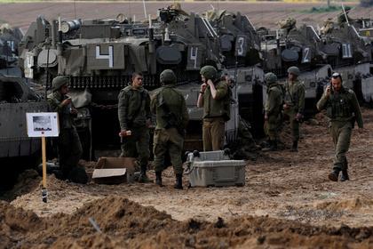 Израильские танки на границе Сектора Газа