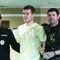 Футболист Александр Кокорин и его друг Александр Протасовицкий (слева направо), обвиняемые в хулиганстве по предварительному сговору, во время заседания по существу в Пресненском районном суде