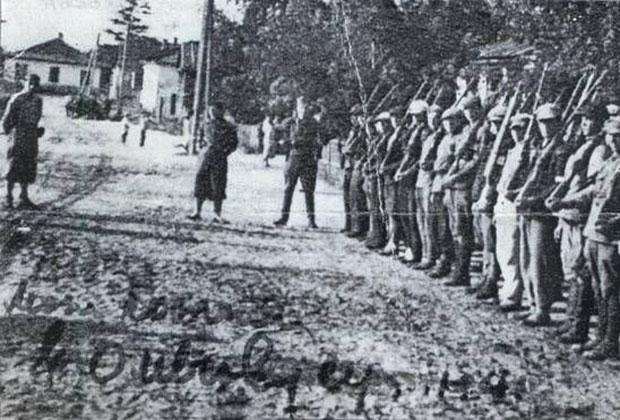 Подразделение «Полесской Сечи» в городе Олевск, осень 1941 года