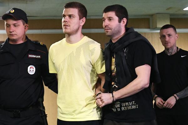 Павел Мамаев, Александр Протасовицкий, Александр Кокорин (справа налево)