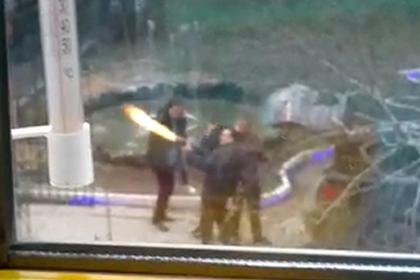 Появилось видео перепалки стрелявшего из автомата депутата с полицией