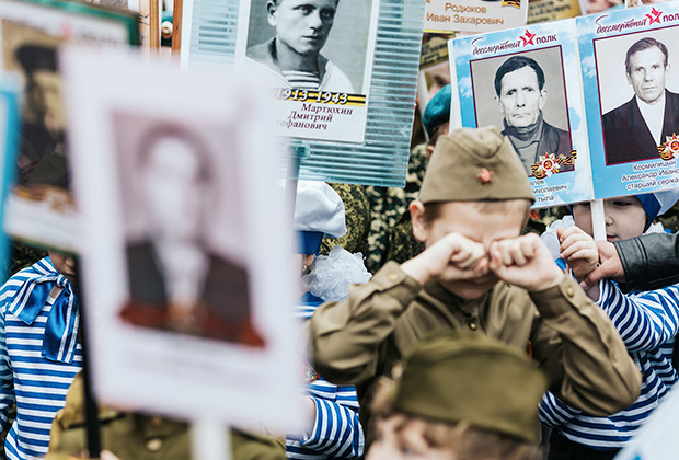 Участники детского Парада Победы в Иваново