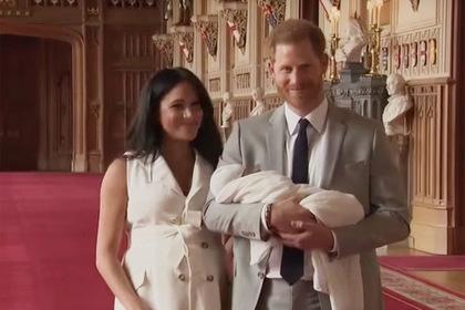 Появилось видео с новорожденным сыном Меган Маркл и принца Гарри