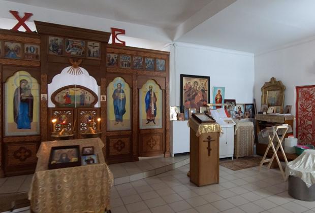 Внутреннее убранство храма Богоявления Господня в селе Черемное