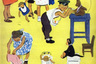 В 1950-е годы, с развитием советской мультипликации, Мурзилка получил еще одно «лицо». На экранах появился мультфильм «Приключения Мурзилки», где заглавный персонаж изображен в виде крошечного мальчика, работающего корреспондентом. С желтым зверем из журнала его роднил вечный спутник — фотоаппарат.