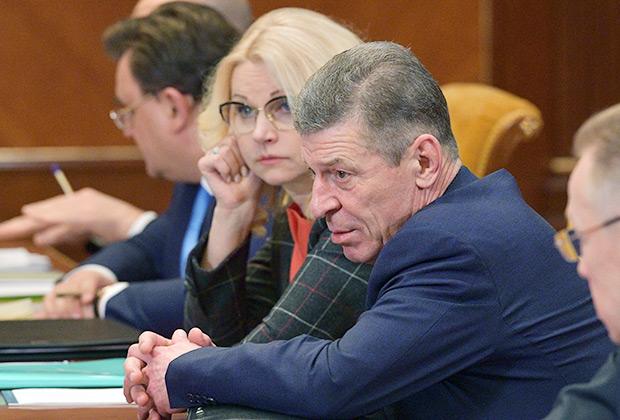 Заместители председателя правительства РФ Дмитрий Козак и Татьяна Голикова