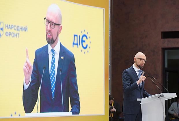Лидер партии «Народный фронт» Арсений Яценюк