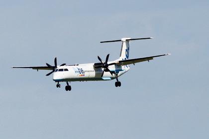 Самолет совершил аварийную посадку без шасси и остался цел